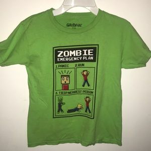 Boys Zombie Emergency Plan Short Tee